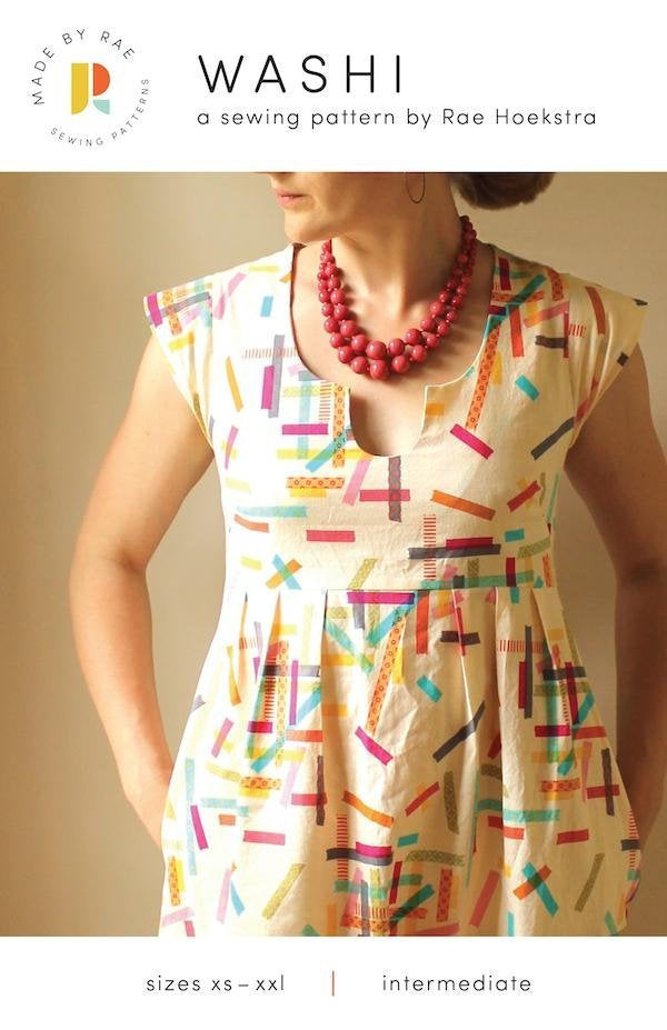 Washi Dress and Tunic Paper Pattern from Made By Rae - brewstitched.com