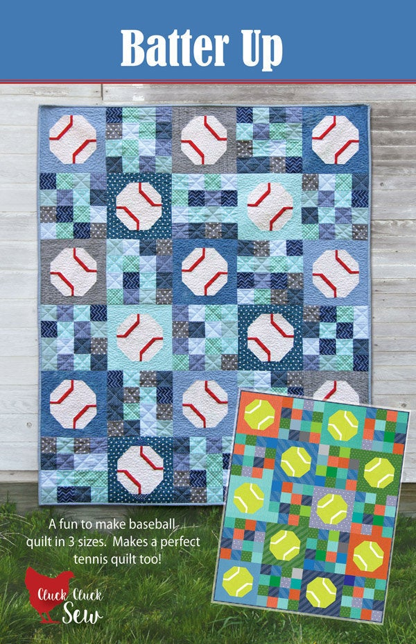 Batter Up Quilt Paper Pattern from Cluck Cluck Sew - brewstitched.com