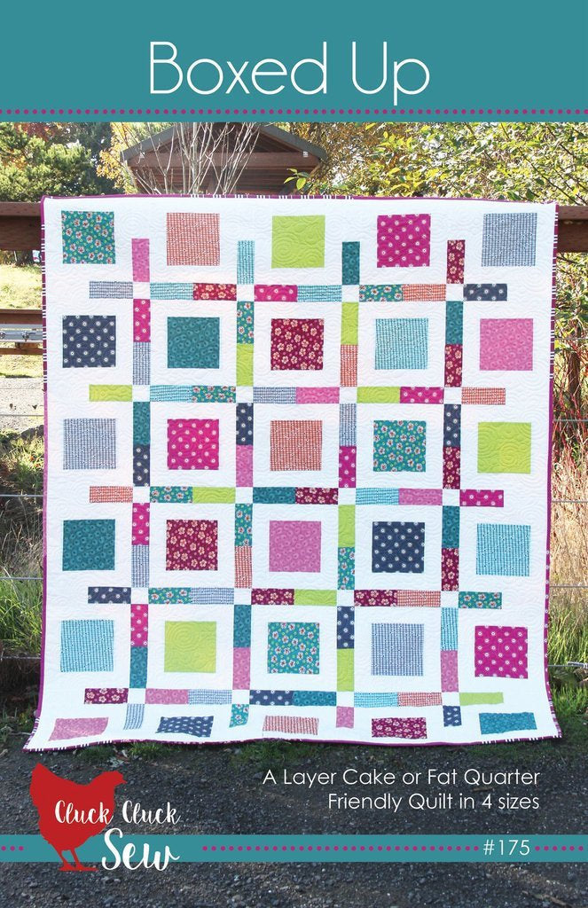Boxed Up Quilt Paper Pattern from Cluck Cluck Sew - brewstitched.com