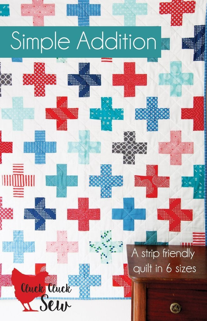Simple Addition Quilt Paper Pattern from Cluck Cluck Sew - brewstitched.com