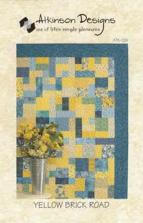 Yellow Brick Road Quilt Pattern from Atkinson Designs - brewstitched.com