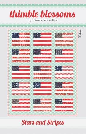 Stars and Stripes Quilt Paper Pattern by Thimble Blossoms - brewstitched.com
