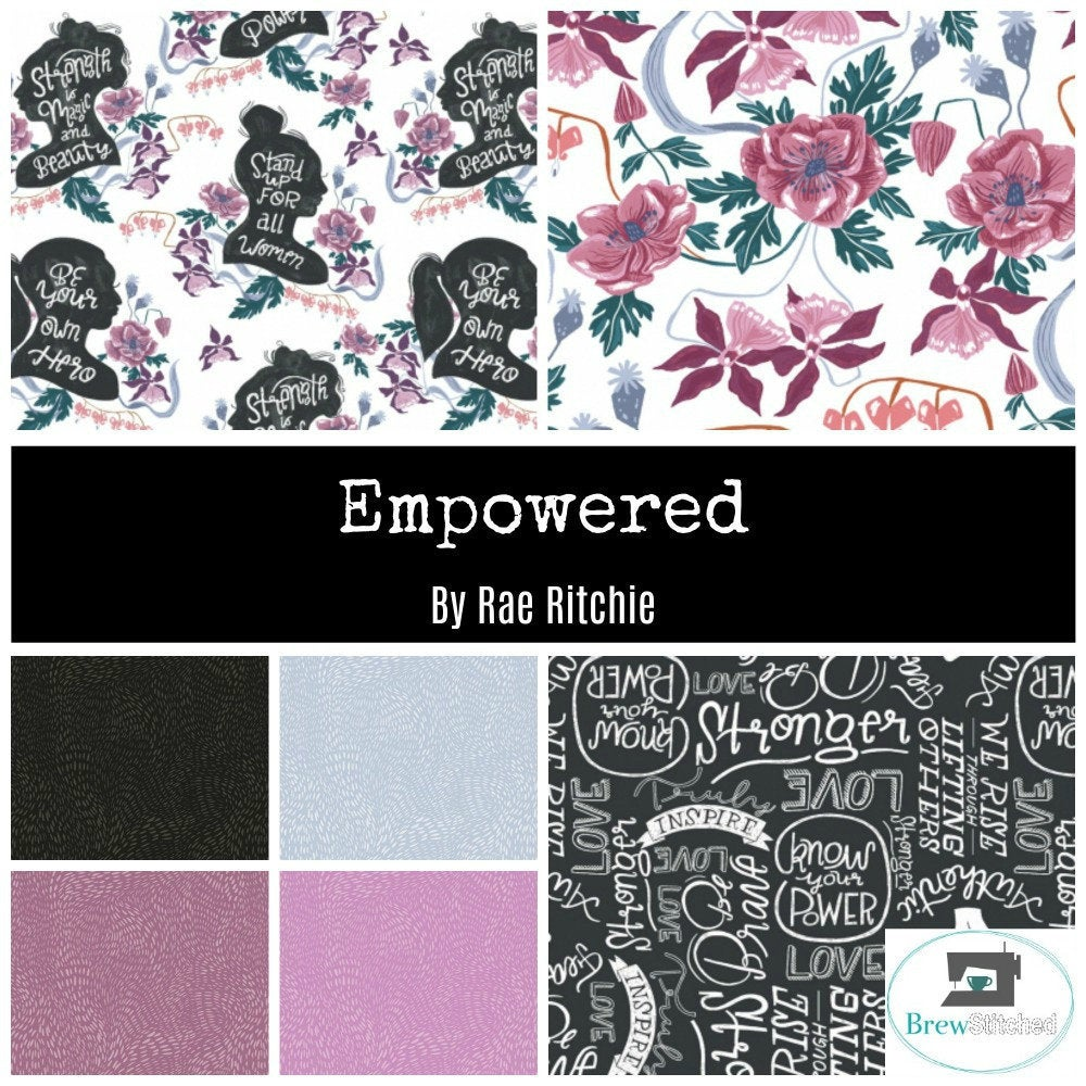 Empowered by Rae Ritchie Fat Quarter Bundle - Includes 7 Prints - brewstitched.com