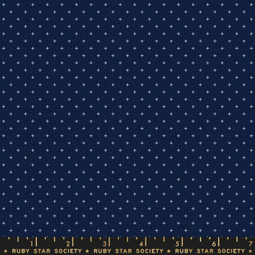 Add It Up Navy - Priced by the Half Yard - brewstitched.com