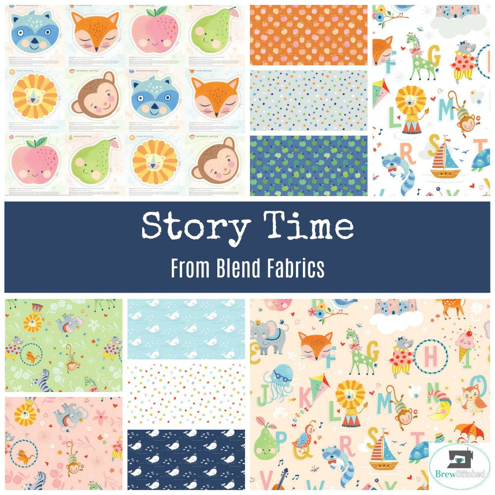 Story Time Half Yard Bundle - Includes 10 Prints + 1 Panel - brewstitched.com