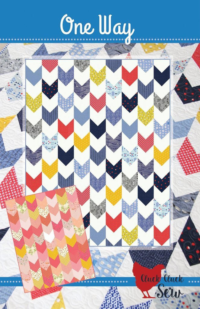One Way Quilt Paper Pattern from Cluck Cluck Sew - brewstitched.com
