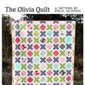 The Olivia Paper Quilt Pattern by Kitchen Table Quilting - brewstitched.com