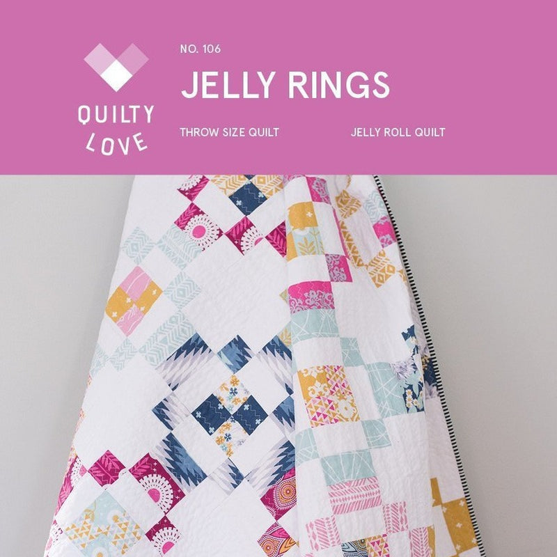 Jelly Rings Quilt Paper Pattern from Quilty Love - brewstitched.com