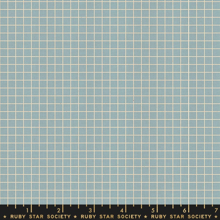 Grid Soft Blue - Priced by the Half Yard - brewstitched.com