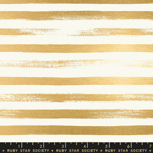 Zip Stripe Metallic Gold - Priced by the Half Yard - brewstitched.com