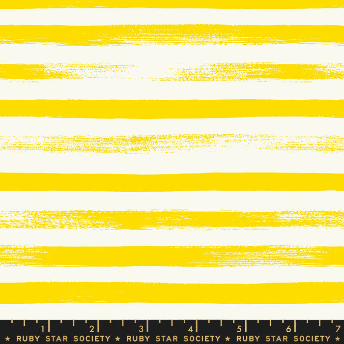 Zip Stripe Lemon Yellow - Priced by the Half Yard - brewstitched.com