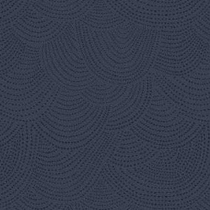 Scallop Dot in Navy - Priced by the Half Yard - brewstitched.com