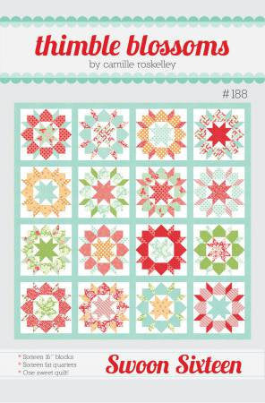 Swoon Sixteen Quilt Paper Pattern from Thimble Blossoms - brewstitched.com