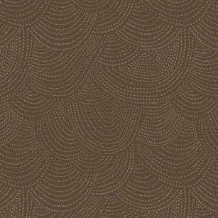 Scallop Dot in Mocha - Priced by the Half Yard - brewstitched.com