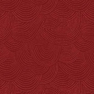 Scallop Dot in Cranberry - Priced by the Half Yard - brewstitched.com