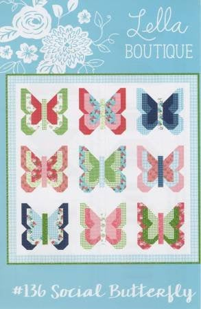 Social Butterfly Quilt Paper Pattern from Lella Boutique - brewstitched.com