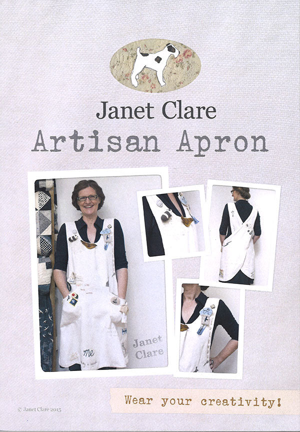 Artisan Apron Paper Pattern by Janet Clare - brewstitched.com