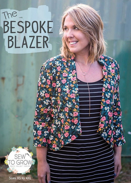Bespoke Blazer Paper Pattern from Lindsey Marsh Project Size: XS - 4XL - brewstitched.com