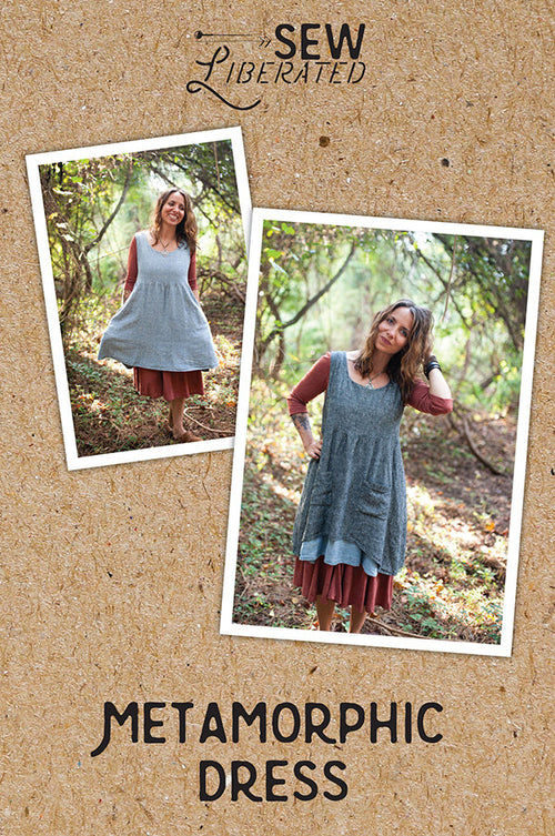 Metamorphic Dress Paper Pattern from Sew Liberated - brewstitched.com