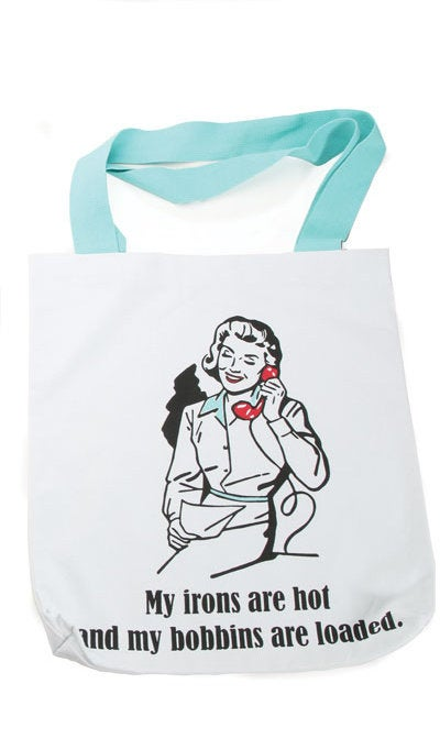 "Snarky Sewing Tote Bag 14"" x 16""  - Choice of 4 Designs - brewstitched.com"
