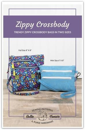 Zippy Crossbody Bags Paper Pattern from Sallie Tomato - brewstitched.com