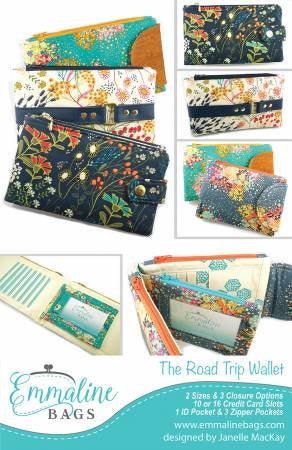 Emmaline Bags Roadtrip Wallet Paper Pattern - brewstitched.com