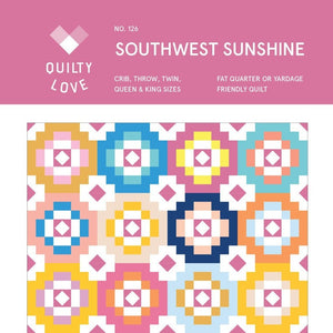 Southwest Sunshine Quilt Paper Pattern by Quilty Love - brewstitched.com