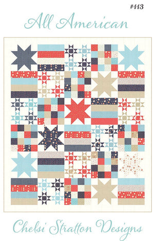 All American Quilt Paper Pattern - brewstitched.com