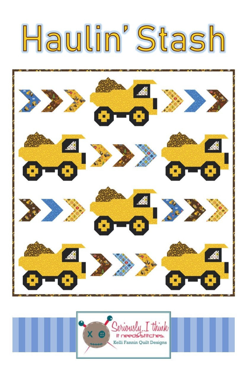 Haulin Stash Quilt Paper Pattern by Kelli Fannin Quilt Designs - brewstitched.com