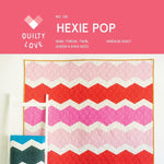 Hexie Pop Quilt Paper Pattern from Quilty Love - brewstitched.com