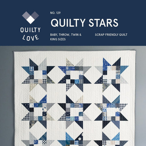 Quilty Star Quilt Paper Pattern from Quilty Love - brewstitched.com