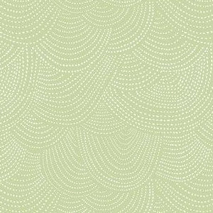 Scallop Dot in Celery - Priced by the Half Yard - brewstitched.com