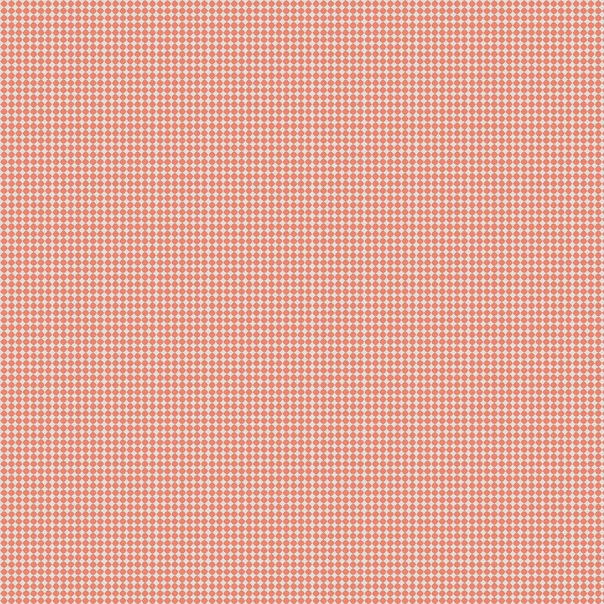Golden Days Dot Coral - Priced by the Half Yard - brewstitched.com