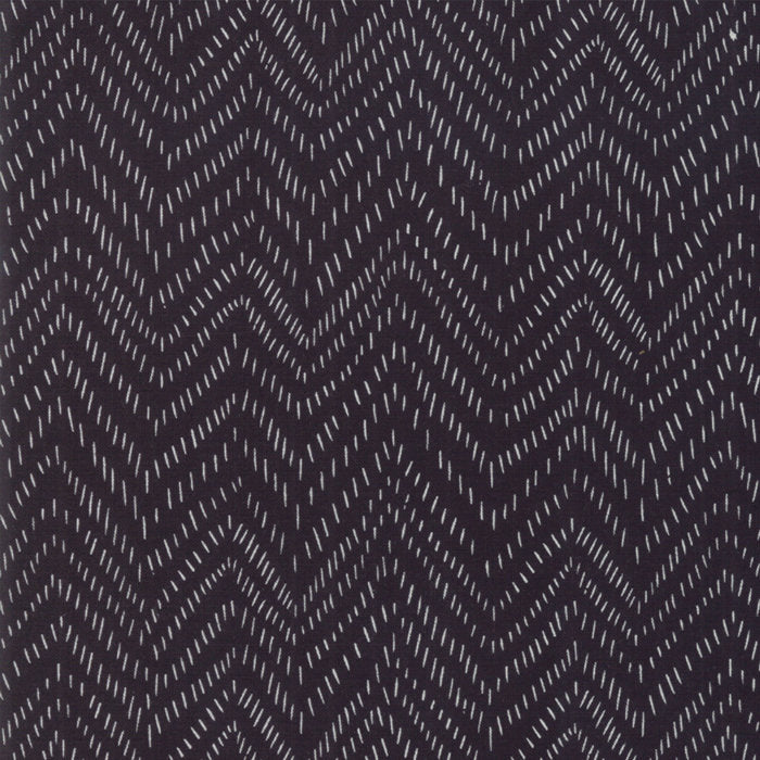 Bramble Points Black - Priced by the Half Yard - brewstitched.com
