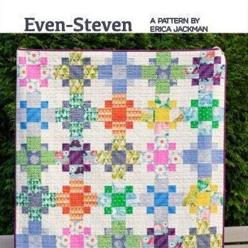 Even-Steven Quilt Paper Pattern by Kitchen Table Quilting - brewstitched.com