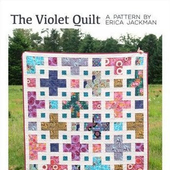 The Violet Quilt Paper Pattern by Kitchen Table Quilting - brewstitched.com