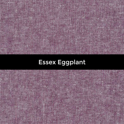 Essex Yarn Dyed Linen in Eggplant - Priced by the Half Yard - brewstitched.com