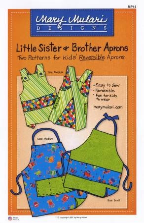 Little Sister and Brother Apron Paper Pattern - brewstitched.com
