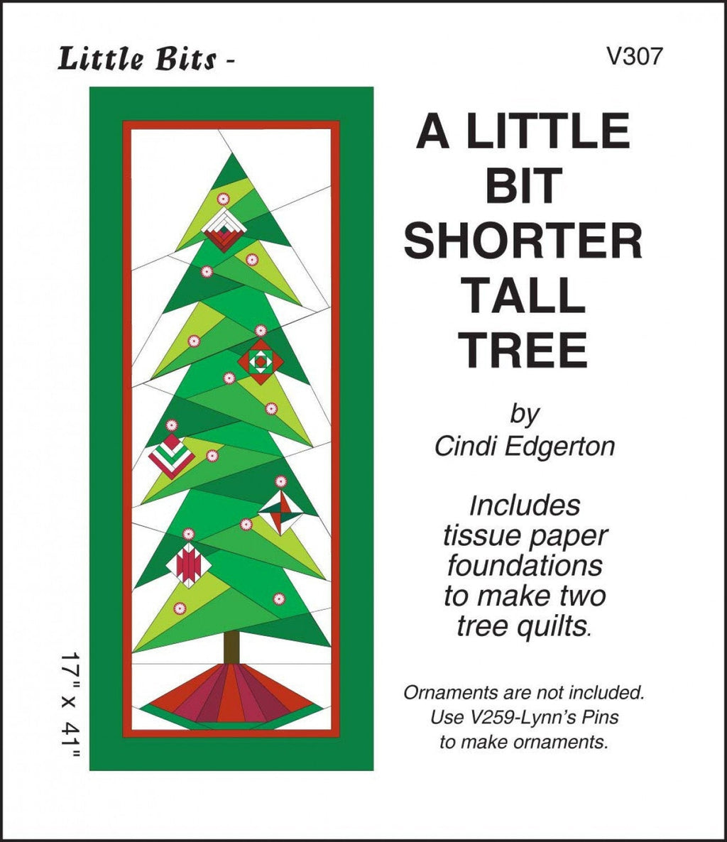 A Little Bit - Shorter Tall Tree Quilt Pattern - brewstitched.com