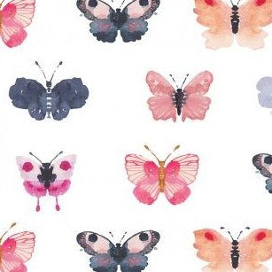 Artistic Garden Butterflies - Priced by the Half Yard - brewstitched.com