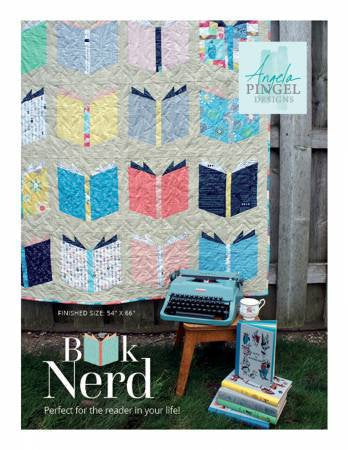 Book Nerd Softcover Quilt Paper Pattern by Angela Pingel - brewstitched.com