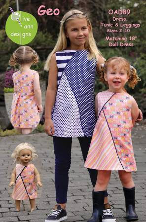 Geo Baby/Child Smock Top/Dress from Olive Ann Designs - brewstitched.com