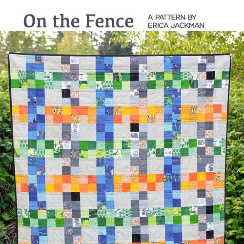 One the Fence Paper Pattern from Kitchen Table Quilting - brewstitched.com