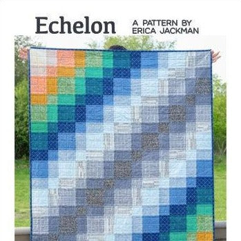 Echelon Quilt Paper Pattern from Kitchen Table Quilting - brewstitched.com