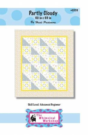 Partly Cloudy Quilt Paper Pattern - Quilt Pattern from Whimsical Workshop - brewstitched.com