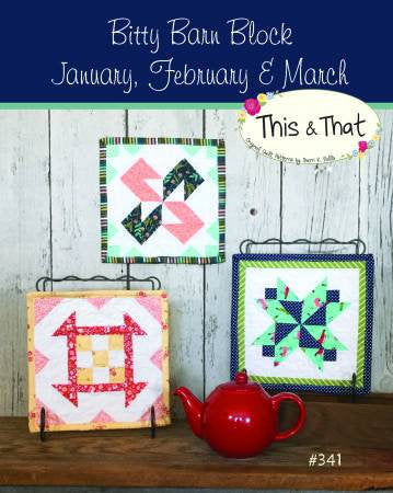 Bitty Barn Blocks January to March Mini Quilts Paper Pattern from This and That - brewstitched.com