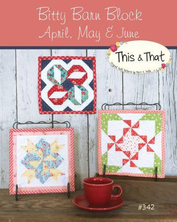 Bitty Barn Blocks April to June Mini Quilts Paper Pattern - brewstitched.com
