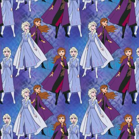 Disney Frozen 2 Elsa & Anna Together Priced by the Half Yard - brewstitched.com
