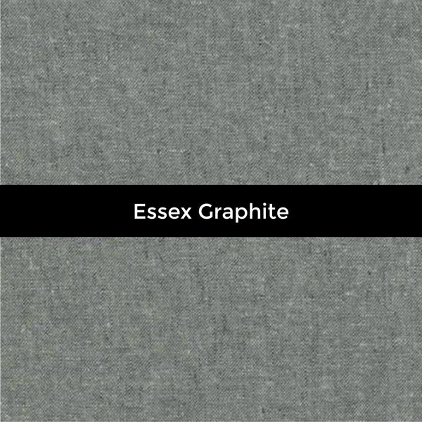 Essex Graphite Linen - Priced by the Half Yard - END OF BOLT