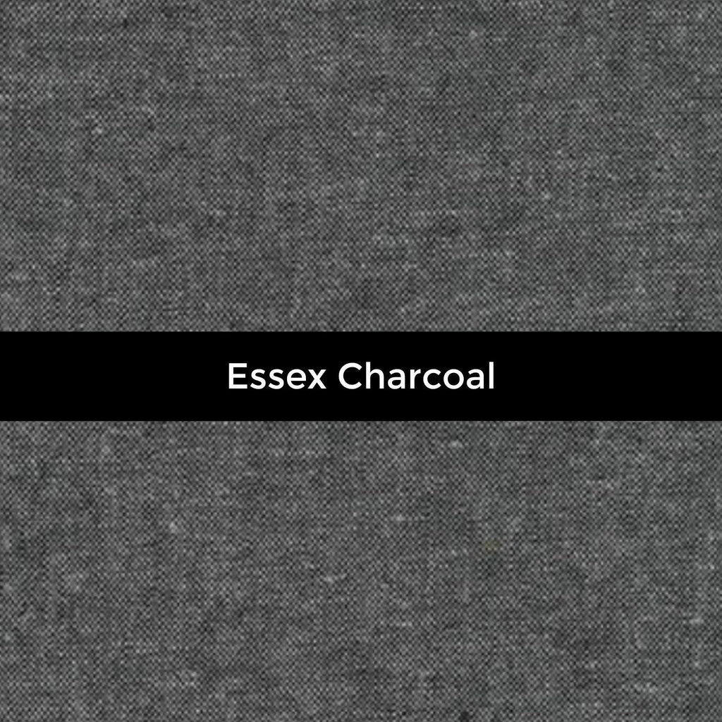 Essex Linen in Charcoal - Price by the Half Yard - brewstitched.com